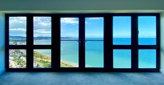 WHAT.A.VIEW The penthouse at The View, Old Colwyn has incredible views of the North Wales coastline. Now available to view #property #newhomes #newhomesales #northwales #colwynbay #oldcolwyn #architecture #design #housesales