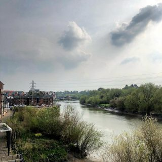 Not a bad view(ing) to end the day with - have a great weekend everybody #property #chester #newbuild #riverdee